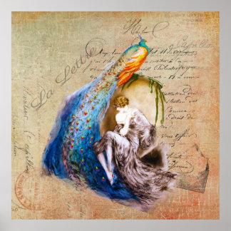 Fransk art nouveau~-La Lettre Poster