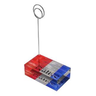 Fransk bedrövad flagga - frankrike bordskorthållare