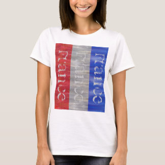 Fransk bedrövad flagga - frankrike tee shirt