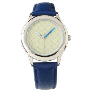Fransk blåttpastell Quatrefoil Armbandsur