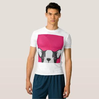 Fransk bulldogg för illustration med rosa bakgrund t shirt