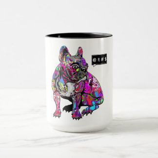 Fransk bulldogg mugg