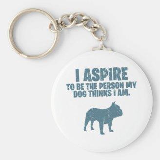 Fransk bulldogg nyckelringar