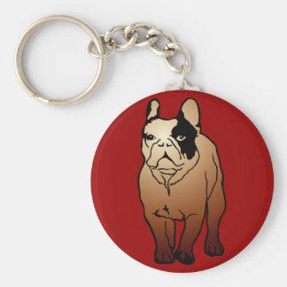 Fransk bulldogg rund nyckelring