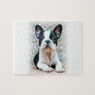 Fransk bulldogghund pussel