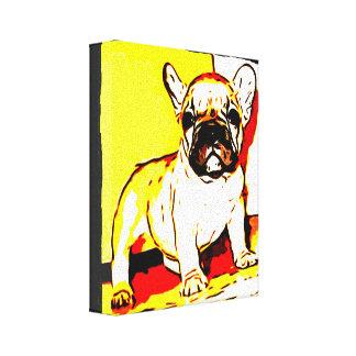 Fransk bulldoggkonst canvastryck