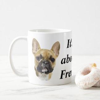 Fransk bulldoggvalp kaffemugg