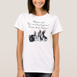Fransk bulldoggvalplycka tee shirts