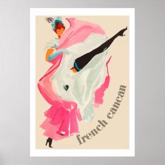 Fransk Cancan (den franska annonsen för vintage) Poster