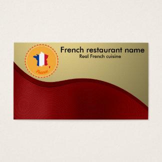 Fransk cuisine visitkort