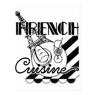 Fransk cuisine vykort