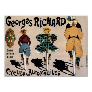 Fransk cykelannonsering för vintage poster