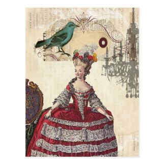 Fransk drottning Marie Antoinette för Paris Vykort