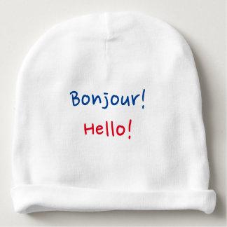 "Fransk- & engelskababy: ""Bonjour!"", och ""hejer! "","