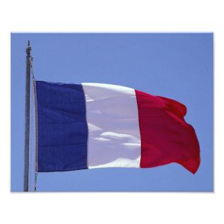 Fransk flagga fototryck