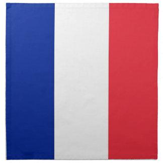 Fransk flagga på den MoJo servetten Servett