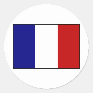 Fransk flagga runt klistermärke