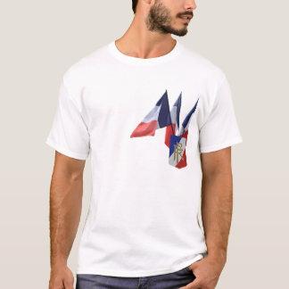 Fransk flaggautslagsplats t-shirts