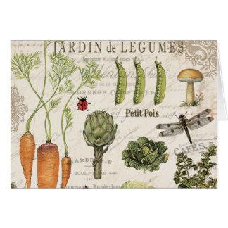fransk grönsakträdgård för modern vintage OBS kort