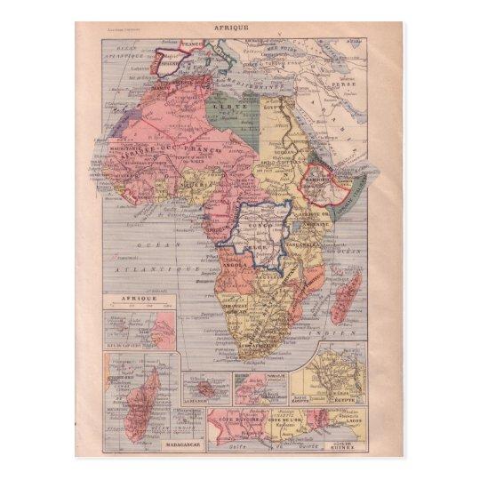 Fransk Karta Av Afrikan 1920 Vykort Zazzle Se