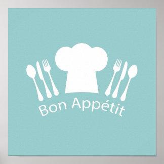Fransk kockBonAppetit restaurang eller kök Poster