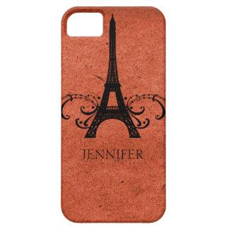 Fransk krusidull för orange vintage iPhone 5 fodral