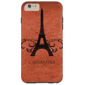 Fransk krusidull för orange vintage tough iPhone 6 plus skal