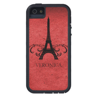 Fransk krusidull för röd vintage tough xtreme iPhone 5 fodral