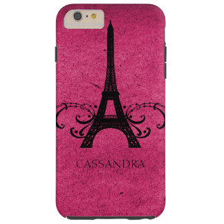 Fransk krusidull för rosa vintage tough iPhone 6 plus fodral