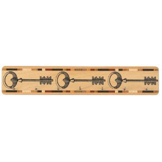 Fransk kugge för vintagenyckelnyckel nyckelhängare