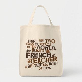 Fransk läraregåva mat tygkasse