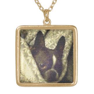 Fransk Neckless tjurhund Guldpläterat Halsband