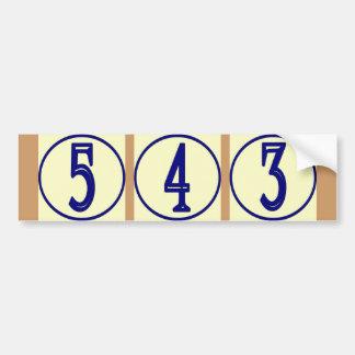 Fransk numrerar vinylhuset numrerar undertecknar bildekal