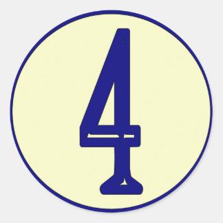 Fransk numrerar vinylhuset numrerar undertecknar runt klistermärke