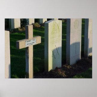 Fransk- och britt-, jude- och kristengravestones poster