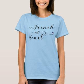Fransk på hjärtautslagsplatsskjortan, frankrike tee