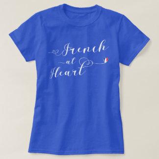 Fransk på hjärtautslagsplatsskjortan, frankrike tshirts
