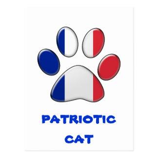 Fransk patriotisk katt vykort