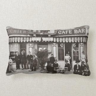 Fransk plats för cafepubgata lumbarkudde