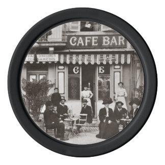 Fransk plats för cafepubgata poker marker