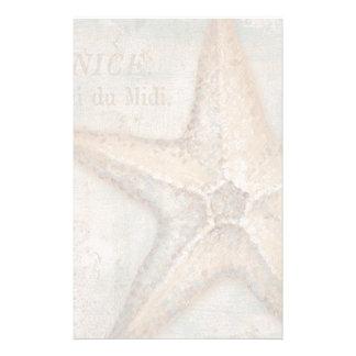 Fransk sjöstjärnakonst för vintage brevpapper