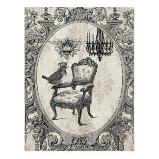 Fransk stolvykort för vintage vykort