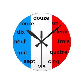 Fransk tar tid på rund klocka