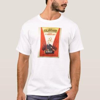 Fransk vintagekommunistpropaganda t-shirt