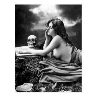 Fransk vykort - Risque nakenstudie