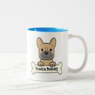Franska bulldoggar är det bäst Två-Tonad mugg