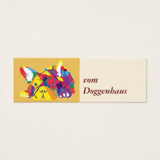 Franska bulldoggar litet visitkort