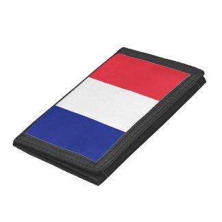 Franska flaggaplånböcker och myntar handväskor