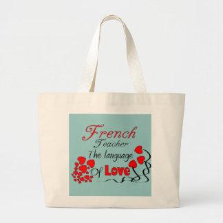 """Franska läraregåvor """"språket av kärlek """", tygkassar"""