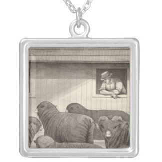 Franska merinofår silverpläterat halsband
